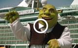 Shrek y Alex en Barcelona